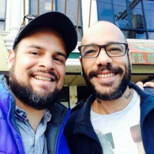 Junto a Perrozompopo antes de concierto en Tegucigalpa